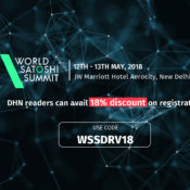 Calling all the blockchain enthusiasts in the largest blockchain conference: World Satoshi Summit 2018