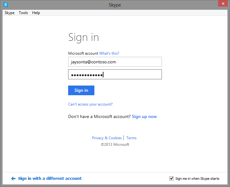 Adding Your Lync Contacts to Skype