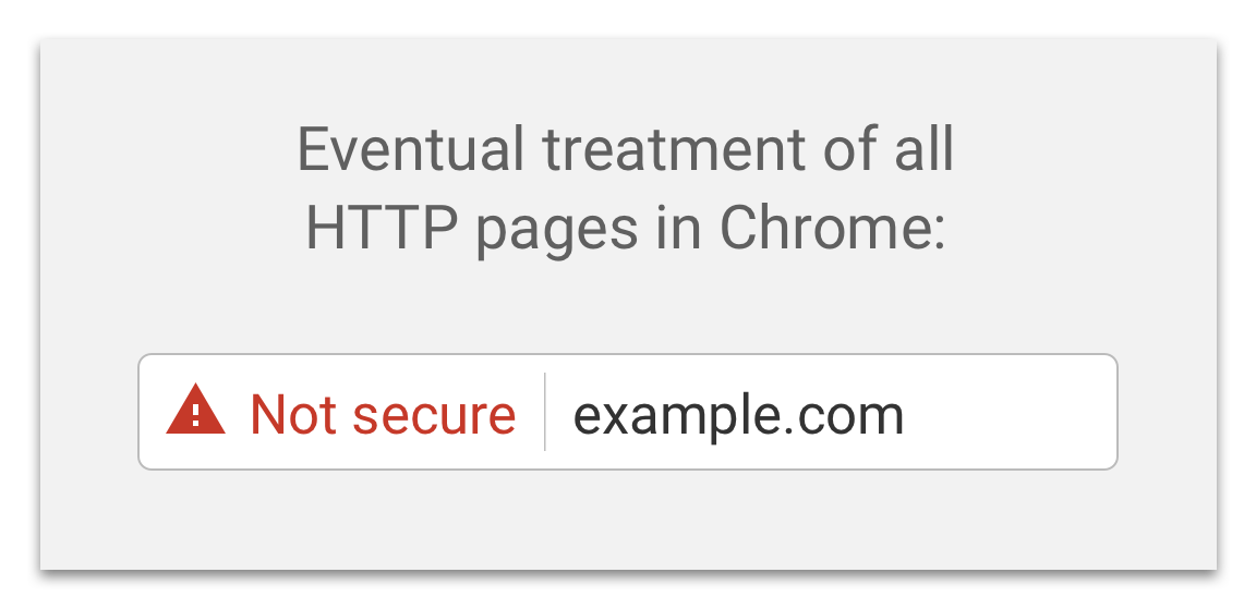 Google Chrome now displays 'not secure' warning for all HTTP websites