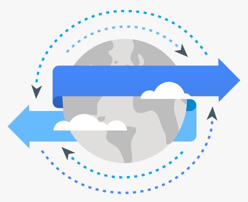 transferência de dados em nuvem google