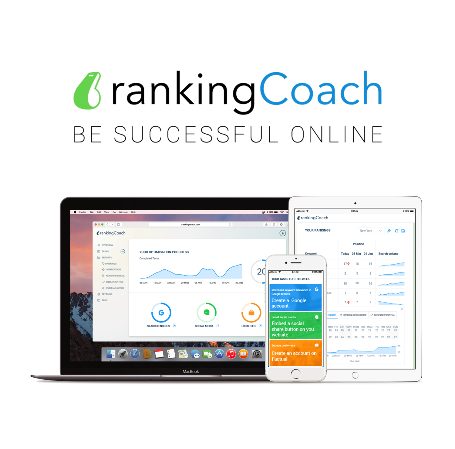 rankingCoach dashboards