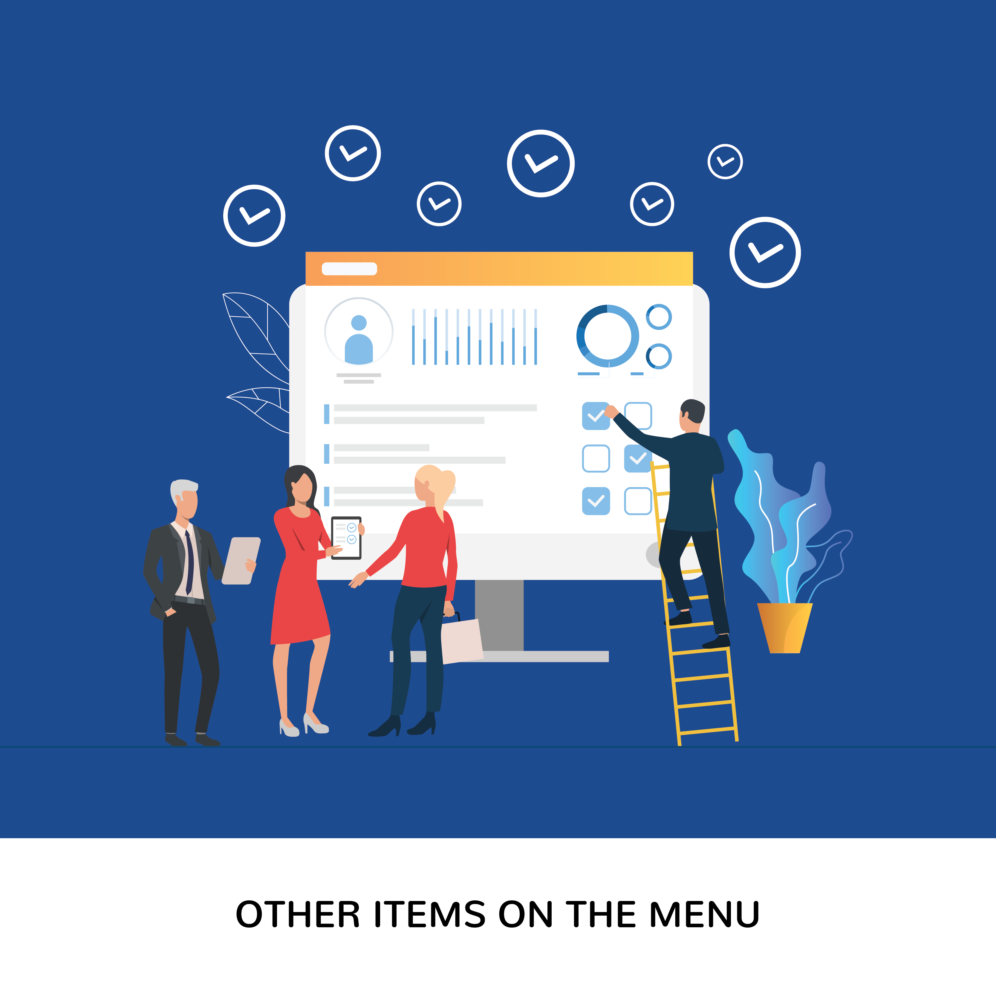 When going deep in the business insights you will get a number of items on the menu
